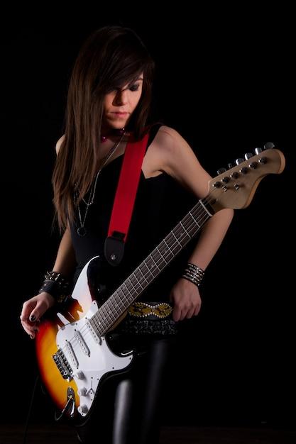 Chitarrista rock Foto Premium