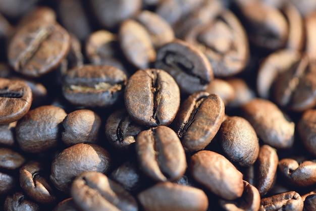 Chiuda in su di un chicco di caffè Foto Premium