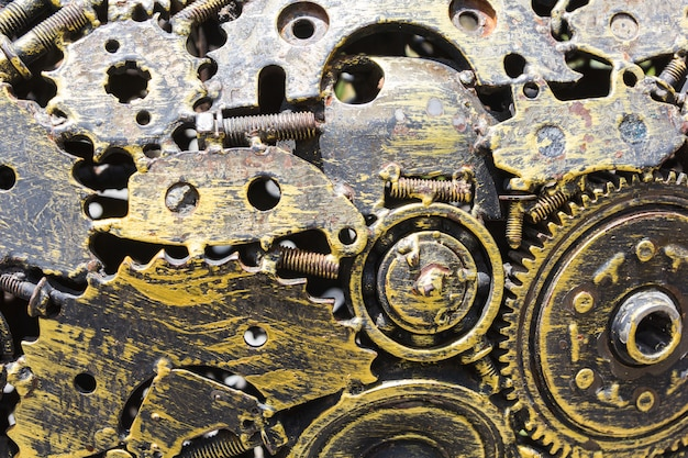 Chiuda su struttura del piatto per pavimento d'acciaio Foto Premium
