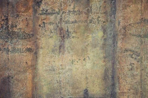 Chiuda sulla vecchia parete rustica del metallo Foto Premium