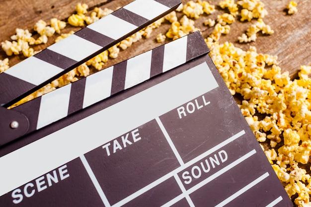 Ciak film e pop corn Foto Premium