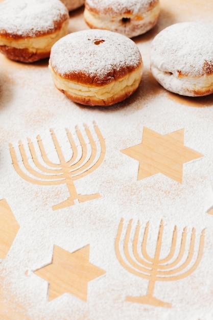 Ciambelle ebree deliziose del primo piano Foto Gratuite