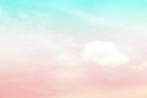 Cielo astratto in colore dolce. Foto Premium
