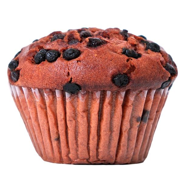Cioccolato chip muffin isolato Foto Gratuite