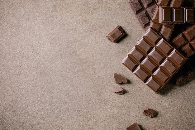 Cioccolato fondente al cacao Foto Premium