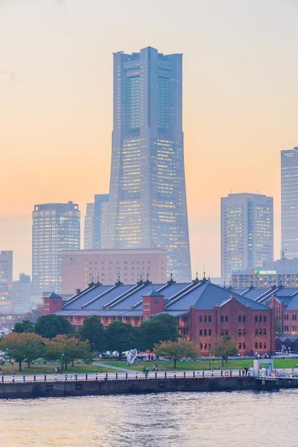 Città skyline di yokohama Foto Gratuite