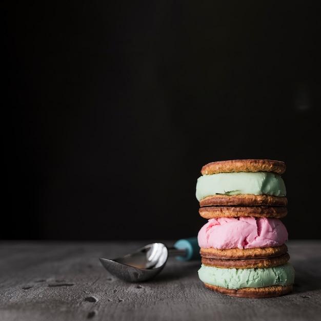 Close-up di gelati biscotto Foto Gratuite