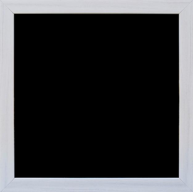 Close-up di lavagna vuota con bordo grigio Foto Gratuite
