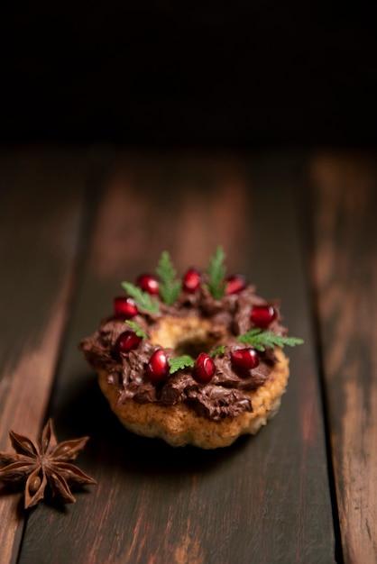 Close-up di pasta con crema al cioccolato topping Foto Gratuite