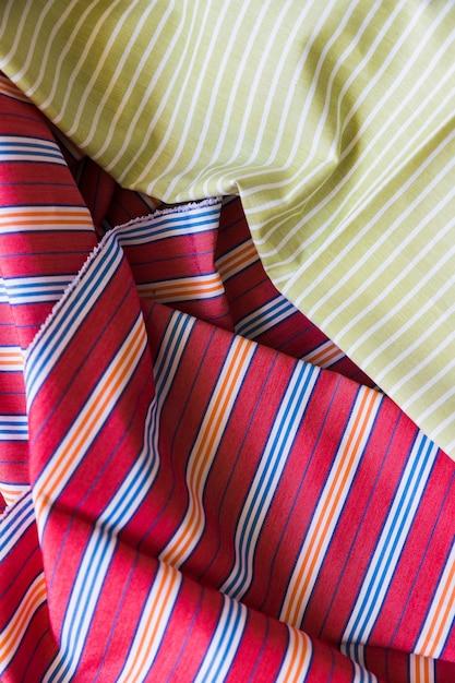 Close-up di tessuto a strisce di cotone Foto Gratuite