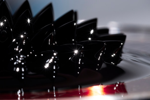 Close-up sostanza ferromagnetica in metallo Foto Gratuite