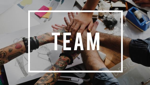 Collaboration team together we can brainstorm Foto Gratuite
