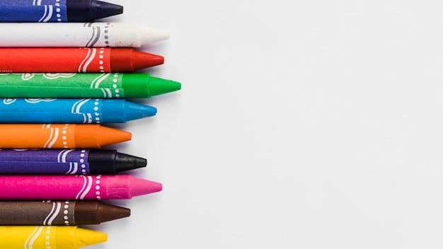 Collezione di close-up di pastelli Foto Gratuite