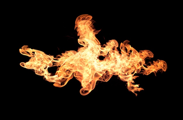 Collezione di fiamme del fuoco Foto Premium