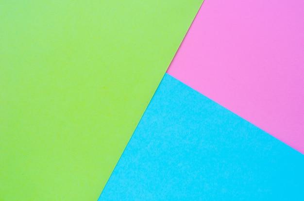 Colorato di sfondo di carta rosa, verde e blu Foto Premium