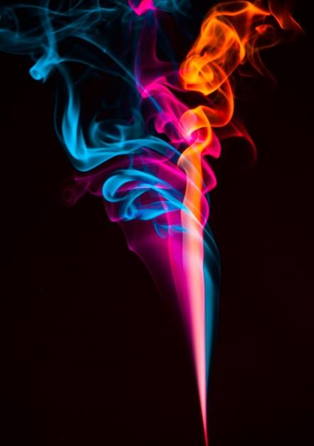 Colorato effetto fumo astratto Foto Premium