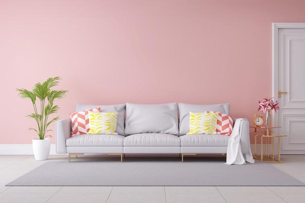 Colore pastello minimalista e interni moderni Foto Premium