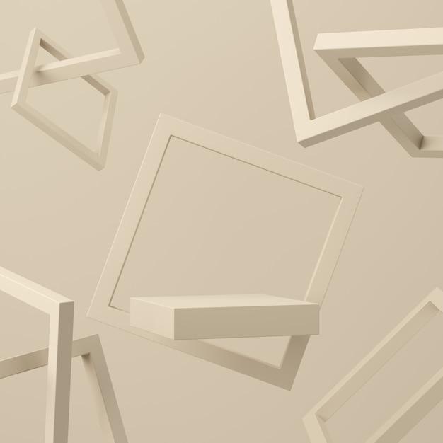 Colore pastello scena astratta con sfondo di podio forma geometria Foto Premium