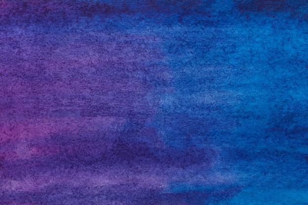Colori di porpora e blu scuro del fondo di astrattismo. pittura ad acquerello su tela. Foto Premium