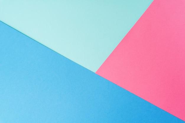 Colori pastello creativi carta sfondo, vista dall'alto. Foto Premium