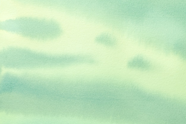 Colori verde chiaro e ciano del fondo di astrattismo. pittura ad acquerello su tela. Foto Premium