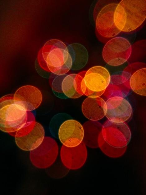Colpo completo della struttura delle luci e del bokeh illuminati della corda Foto Premium