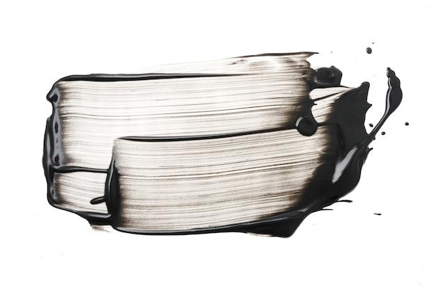Colpo della maschera di protezione del carbone o dell'argilla su fondo bianco Foto Premium