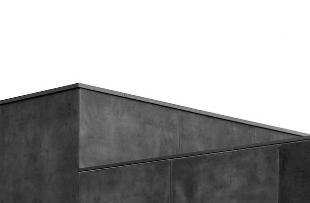 Colpo della scala di grigi di una parete grigia geometrica Foto Gratuite
