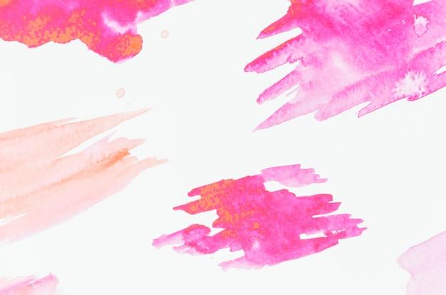 Colpo di pennello rosa su sfondo bianco Foto Gratuite
