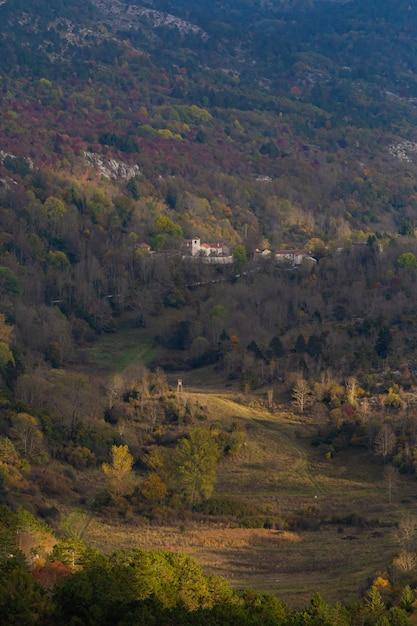 Colpo verticale dell'angolo alto di bello paesaggio in istria, croazia Foto Gratuite