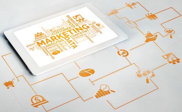 Commercializzazione del concetto di business della tecnologia digitale Foto Premium
