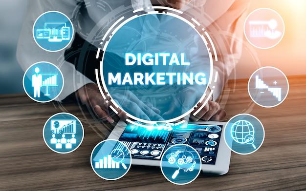 Commercializzazione di tecnologia digitale Foto Premium