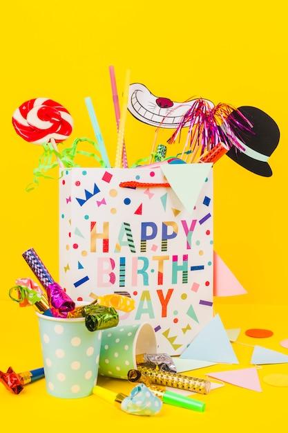 Compleanno, natura morta Foto Gratuite