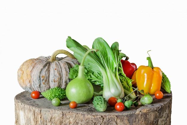 Composizione con verdure e frutta Foto Premium