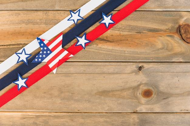 Composizione creativa della bandiera degli stati uniti Foto Gratuite