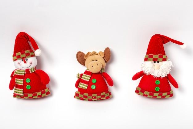 Composizione di decorazioni natalizie Foto Premium