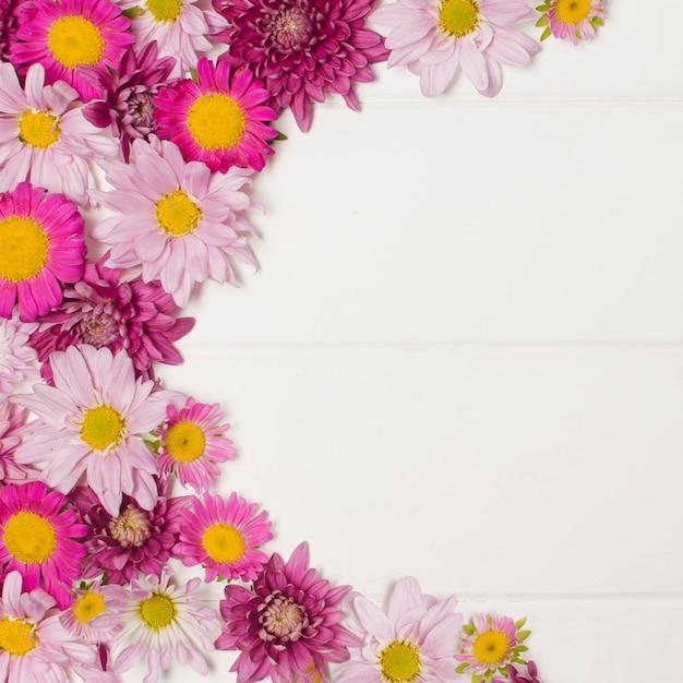 Composizione di meravigliose fioriture rosa Foto Gratuite