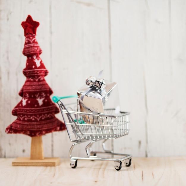 Composizione di natale per lo shopping regali Foto Gratuite