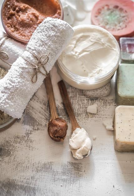 Composizione spa con sapone Foto Gratuite