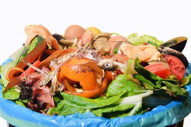 Compost su bacground bianco Foto Premium