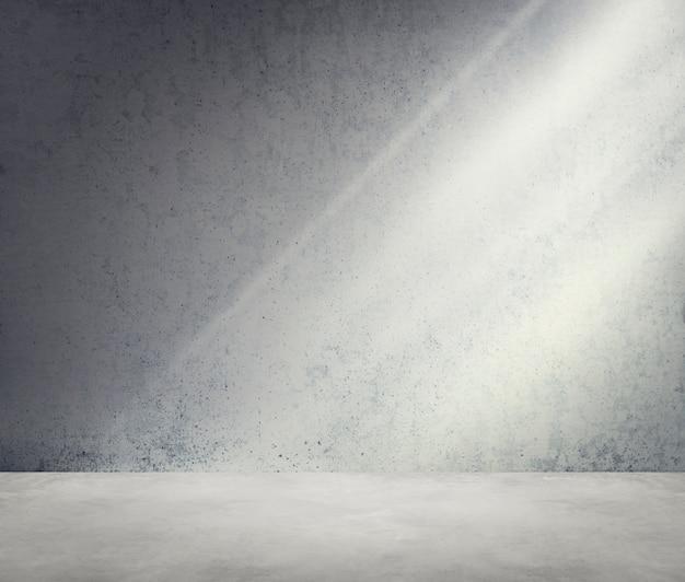 Concetto concreto della carta da parati di luce solare dell'ombra d'angolo della stanza Foto Gratuite