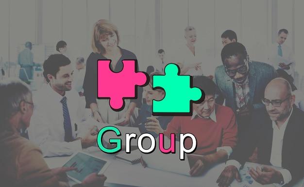 Concetto del grafico di cooperazione del collegamento di risultato Foto Gratuite