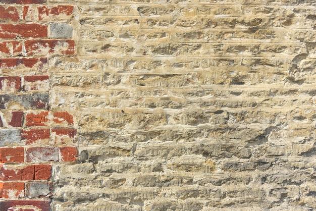 Concetto del modello della massoneria di lerciume della facciata di mattone vecchio Foto Premium