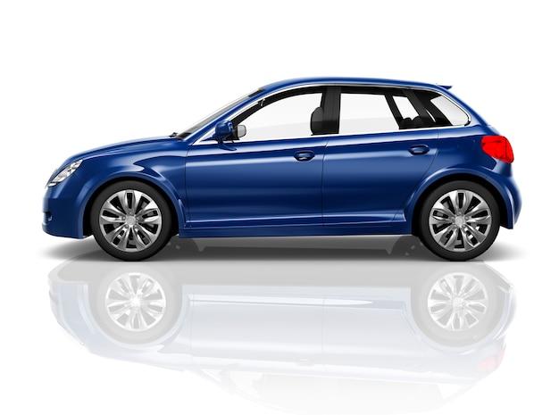 Concetto dell'illustrazione del trasporto 3d del veicolo dell'automobile Foto Premium