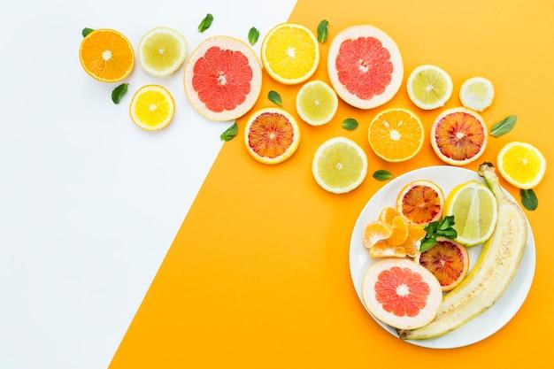 Concetto di alimentazione sana laici distesi Foto Gratuite