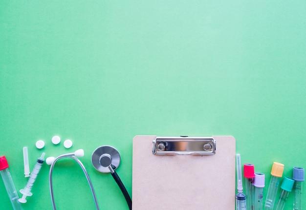 Concetto di assistenza sanitaria, vista dall'alto Foto Premium