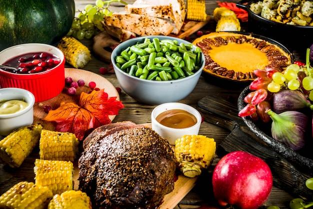Concetto di cena del ringraziamento Foto Premium