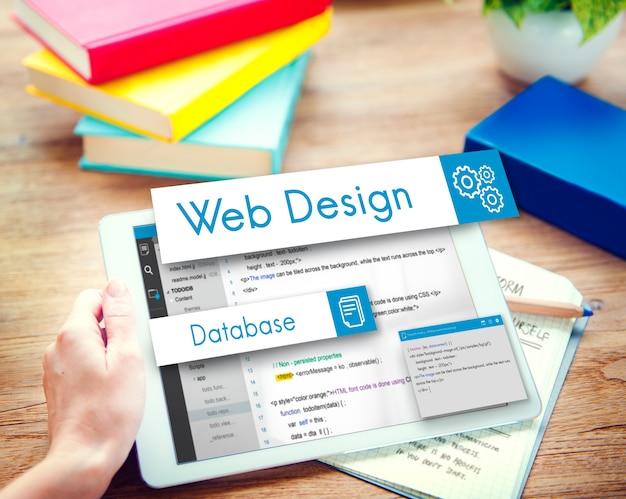 Concetto di codifica del sito web di progettazione web Foto Gratuite