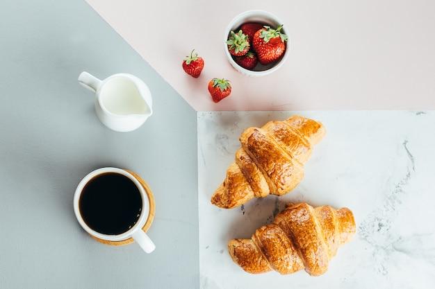 Concetto di colazione sana mattina Foto Premium