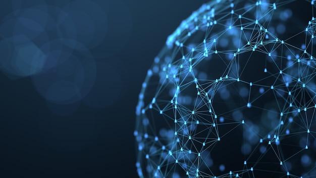 Concetto di connessione di rete sociale globale. collegamento dell'icona di persone. Foto Premium